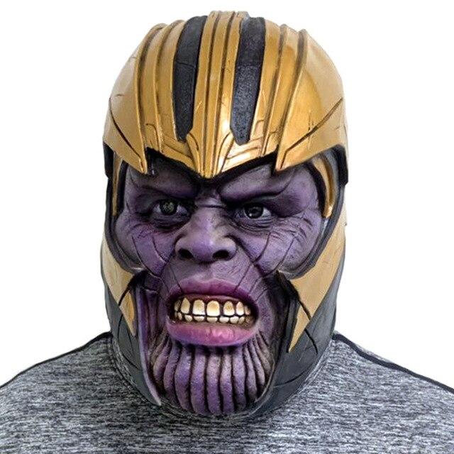Dia das bruxas Cosplay Vingadores Thanos 4 Infinito Guerra Cosplay Braço Braços Adereços Festa de Máscaras Máscaras de Super-heróis Arma