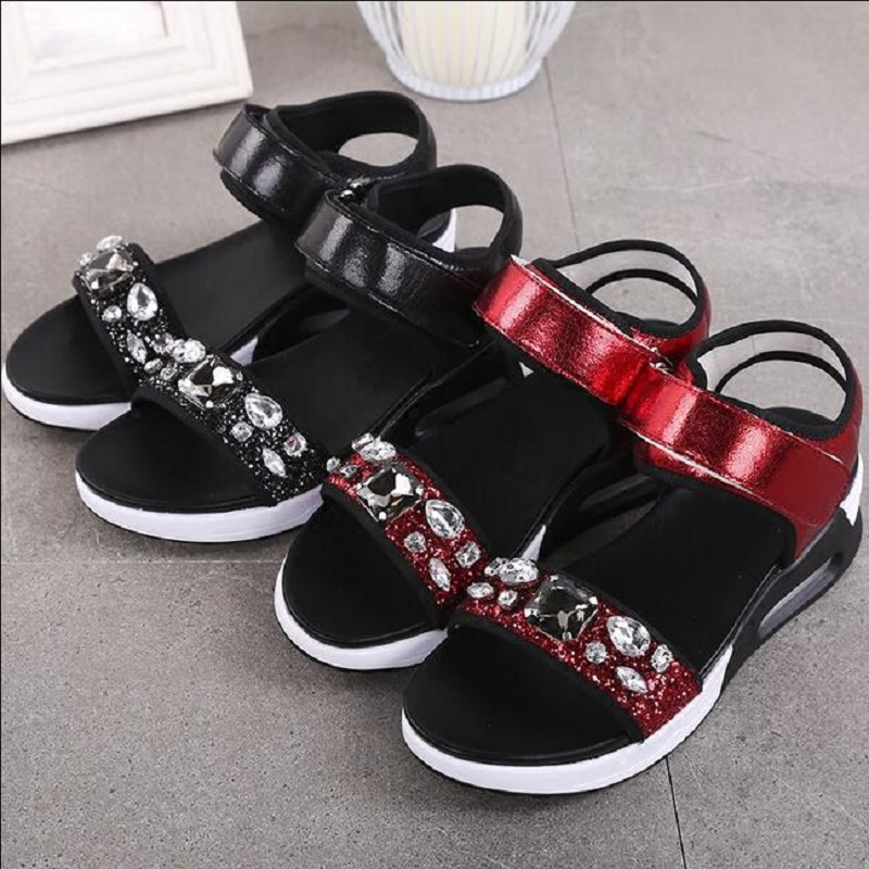 2017 New Summer shoes woman Platform Sandals Women genuine leather Casual Open Toe Gladiator wedges Women Shoes zapatos mujer 2017 gladiator summer shoes woman platform sandals women flats soft leather casual open toe wedges sandals women shoes r18