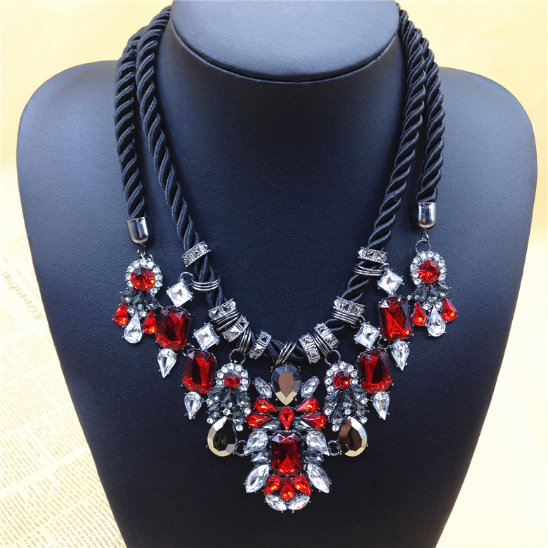 Newest gorgeous brand necklace fashion jewelry brunet department newest gorgeous brand necklace fashion jewelry brunet department statement necklace women choker crystal necklaces pendants in chain necklaces from aloadofball Choice Image