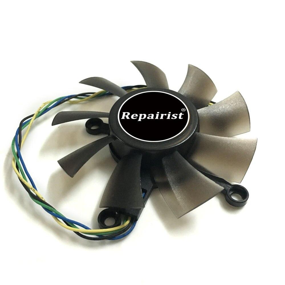 R128015SU FD8015U12S 75mm broches 4x43mm ventilateur refroidisseur ventilateur pour ASUS EAH5830/8600/9800 GTS 450/460 HD7850 carte graphique de refroidissement