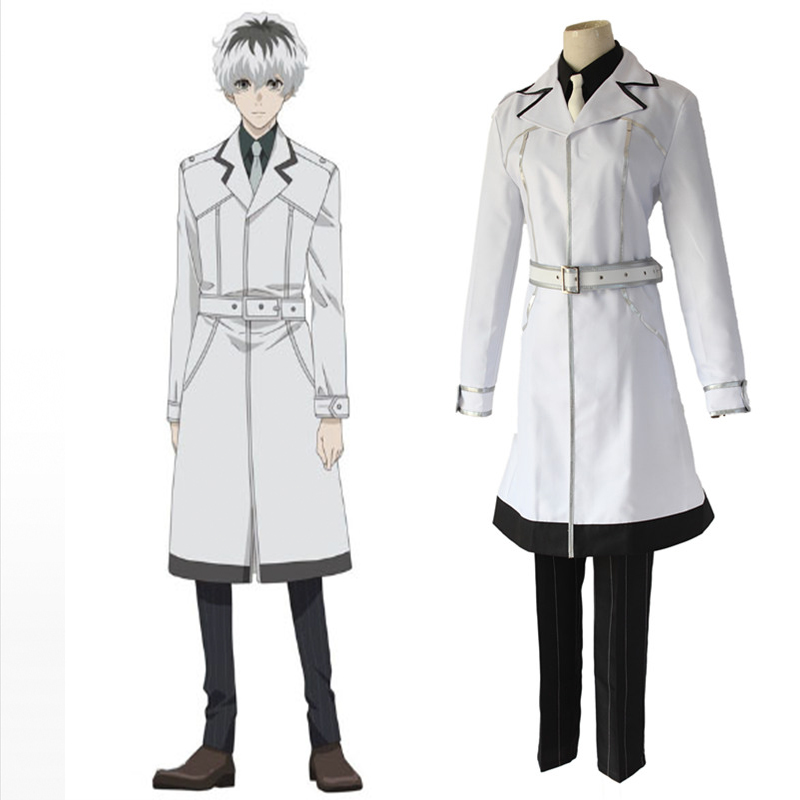 Anime Tokyo Ghoul Cosplay Costumes Sasaki Haise blanc uniforme Cosplay Costumes Halloween fête unisexe Cosplay Costumes