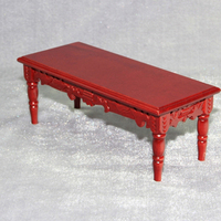 Chinese style antique pure hand carved desk dollhouse miniatures 1/12 scale #CT04