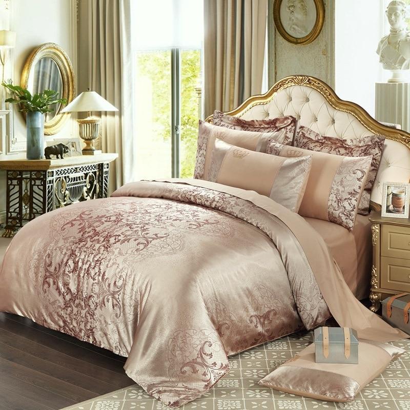 European style 4pcs Bedding sets satin bedcovers jacquard cotton queen size comforters king duvet cover luxury bedsheet set