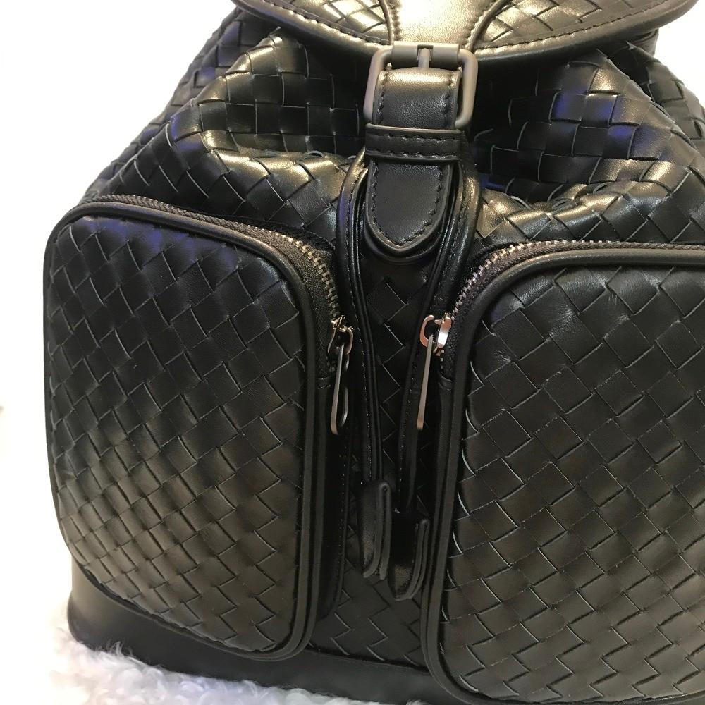 Véritable Disponibles En 2019 Nouveau Femmes Mode Noir Cuir Mouton Peau Et Multi Déplacement Sac Haute À Hommes capacité Modèle De Dos fonction PkuZOiX