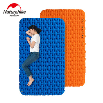 Naturehike Airbag Type Ultra-light Double Inflatable Pad Outdoor Tent Air mattress Pad Camping mat Thickening Moisture-proof Pad