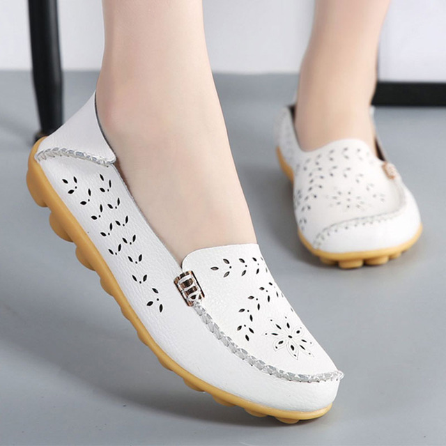 Summer Ballet Flats Women Genuine Leather Shoes Slip On Loafers Women Flat Soft Ladies Shallow Shoes Flower Sapato Feminino аксессуар закаленное стекло для meizu mx5 df mzsteel 02