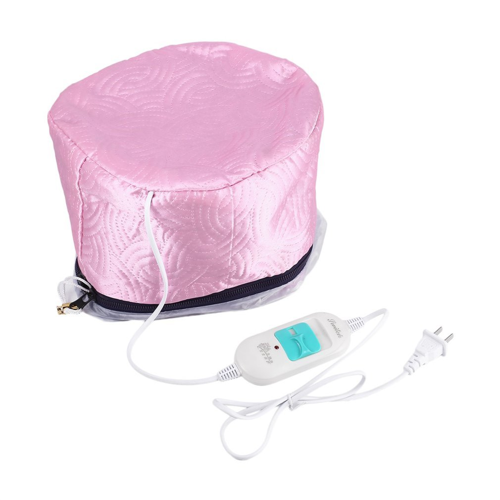 Electric Hair Thermal Treatment Beauty Steamer Spa Nourishing Hair Care Cap Waterproof Anti Electricity Control Heating Us Plug