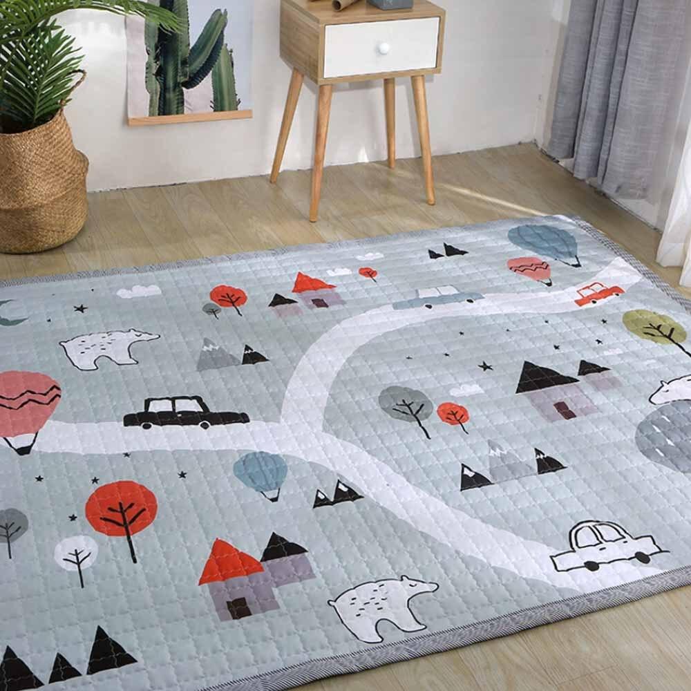 145*195 cm en plein air Puzzle enfants tapis épaissi bébé chambre ramper Pad bébé coton tapis de jeu pliant tapis bébé tapis