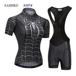 Super Hero cycling jersey sets black spiderman women cycling clothing 319c8d724