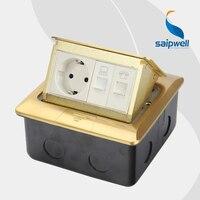 Pop Up Design 1 Gang European Socket / General Purpose Waterproof Floor Socket 16A 220V (SPD 2F/CC8 5)