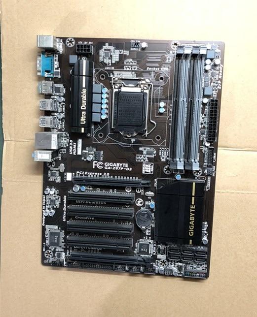 Free shipping original motherboard Gigabyte GA-Z87P-D3 DDR3 LGA 1150 32GB Z87P-D3 USB2.0 USB3.0 DVI HDMI Desktop motherborad z87p motherboard z87p d3 supports 1150cpu sata3 usb3 0 luxury large board
