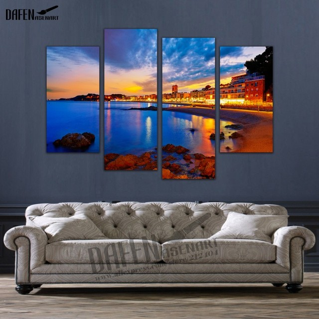 4 Panel Canvas Wall Art Dazzling Light In The Dust Canvas Print Framed Wall  Art Wall