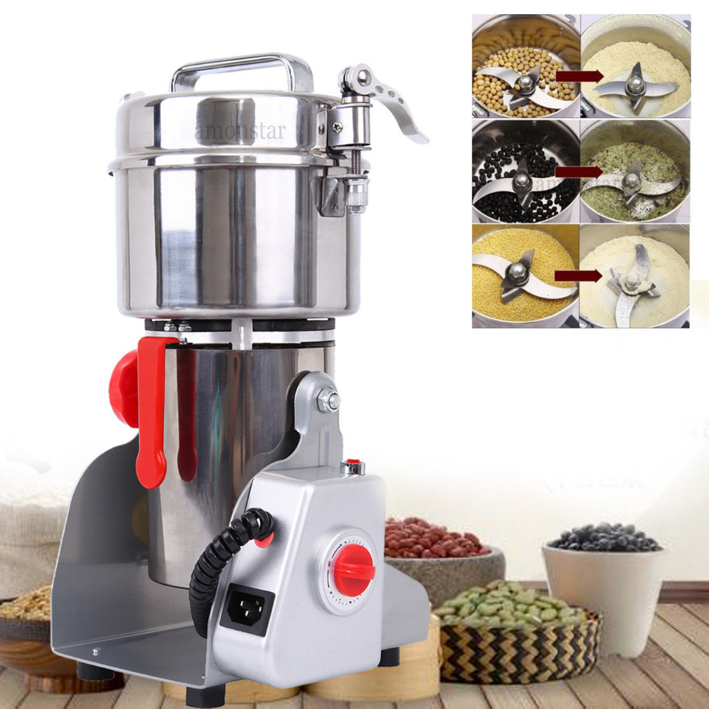 700g Electric Herb Grain Grinder Cereal Mill Flour Coffee Food Wheat Machine free by dhl 4pc hc 700 220v 110v multifunction 700g electric grinder herb flour coffee pulverizer food mill grinding machine