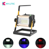 Rechargeable 50W 36LED LED Searching Light Portable 2400LM Spotlight Flood Spot Work Light for Outdoor Camping Lamp With Charger