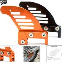 Black Orange Motorcycle Rear Brake Disc Guard Potector For KTM 125 SX/EXC 2003 2014/144 SX 2007 2008/525 XC 2006 2007