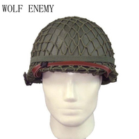 NEW WW2 U.S M1 Tactical Military Army Pistol Steel Helmet with Netting Cover WWII Equipment Replica