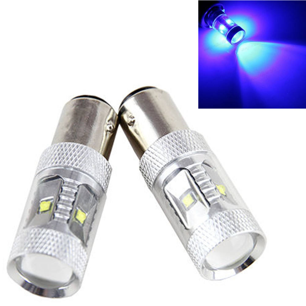 CYAN SOIL BAY 2X 1157 Pure Blue High Power Fog Light 30W BAY15D P21/5W Chip Tail Brake Stop Turn Signal LED 7528 Bulb