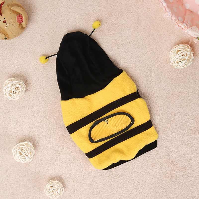 Hoomall теплые флисовые костюмы для собак пчела косплей костюмы для маленьких средних и больших товары для животных, собак милый пчела рисунок комнатная собачка одежда