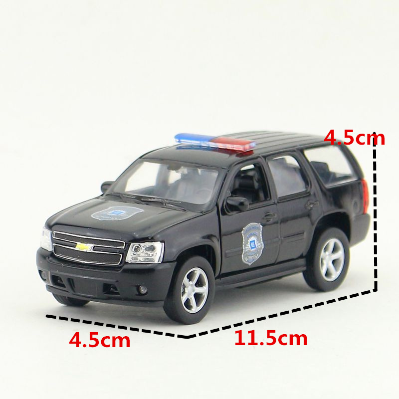 WELLY 1/36 Scal Police Version <font><b>2008</b></font> Chevrolet <font><b>Tahoe</b></font> Full-size SUV Diecast Metal Pull Back Car Model Toy For Gift/Kids image