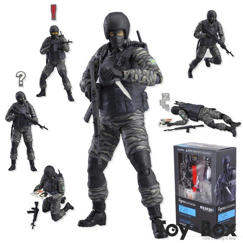 Figma 298 Metal Gear Solid 2 Sons of Liberty Gurlukovich Soldier Figure Toy