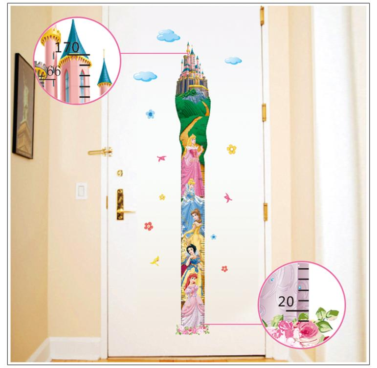 New creative 3d height measure growth chart fairy tale for Growth chart for kids room