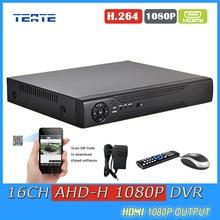 CCTV System DVR 16CH Digital Video Recorder 16 Channel AHD 1080P WIFI Hybrid safety surveillance DVR NVR 16ch 1080P HDMI