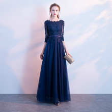 Ladies dress 2019 new banquet noble elegant host dress  female dignified stylish embroidery vintage dress 2019 ladies flower dress noble and elegant