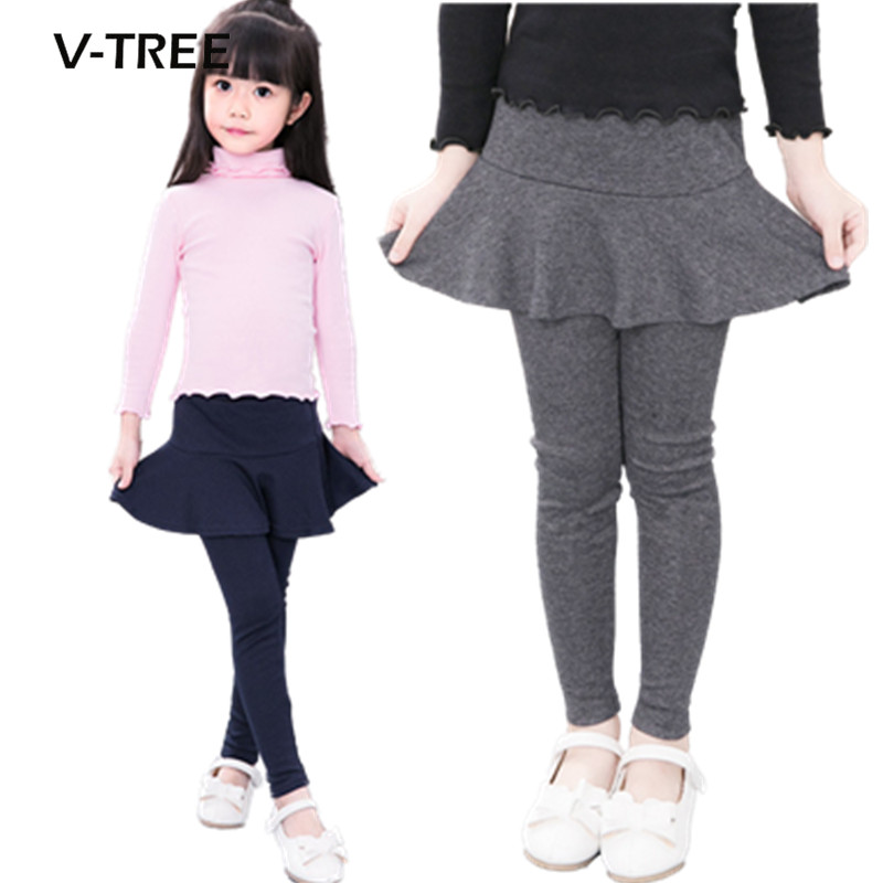 Vtree baby girls legging cotton skirt pants for girl cute candy color kids trousers children brand clothes baby leggings 2-10Y