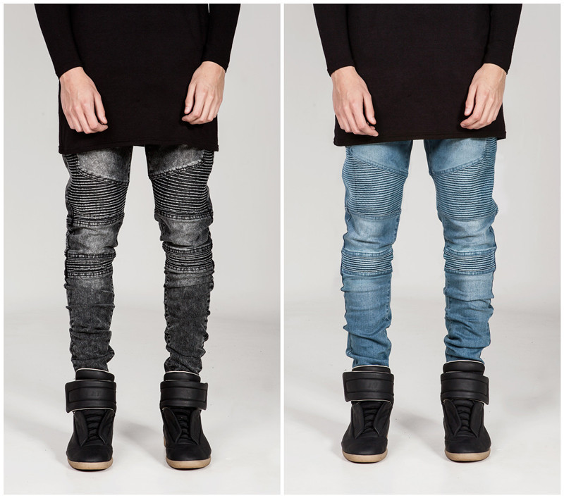 Aliexpress.com : Buy Streetwear Men Skinny Jeans Men Runway ...