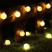 Outdoor Solar Power String Lights Party Decoration DIY Globe Led Light With 20ft 30 LED White