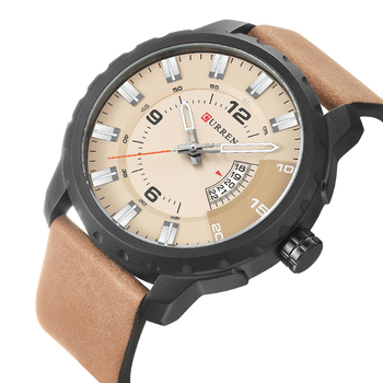 Big Dial Sports Style Mens Watches Top Brand Luxury Fashion Sports Wristwatch Clock Men Quartz Watch Relogios Curren Watch 8245