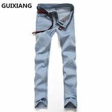 2017 new Men's fashion leisure classic straight jeans Men's pants high quality 100% cotton jeans casual pants trousers men