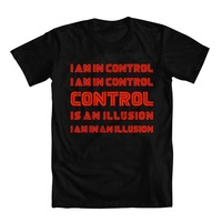 Cool Funny T Shirt High Quality Tees Mr Robot Inspired Control Is An Illusion Men S