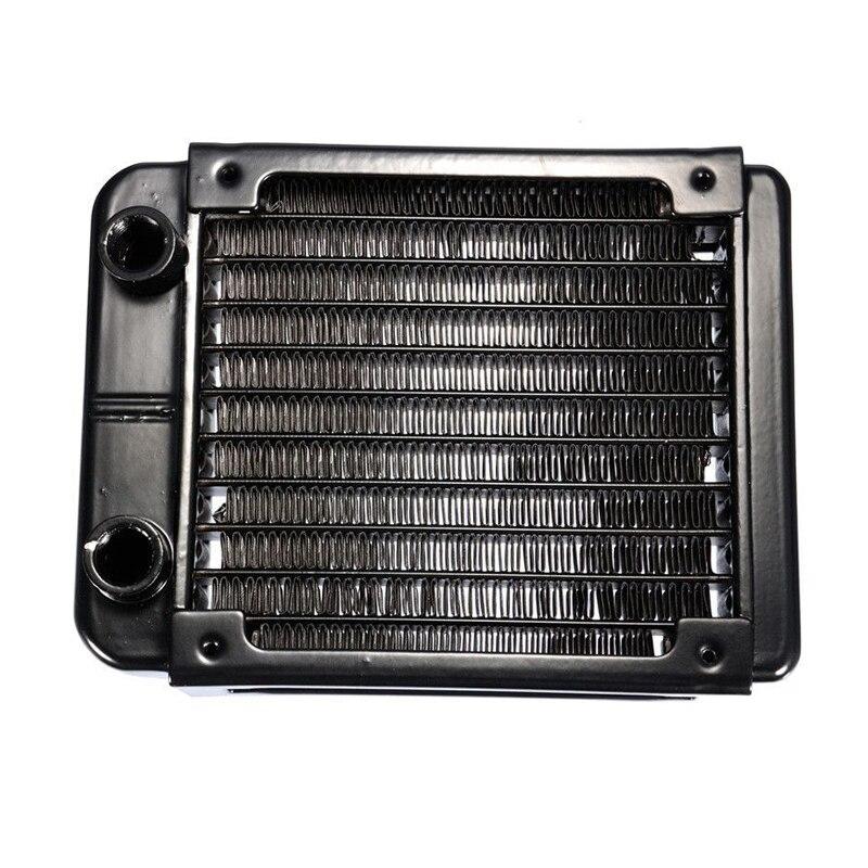 G1/4 90mm Aluminium Heat Radiator For PC CPU Water Cooling Heatsink Black 5pcs lot pure copper broken groove memory mos radiator fin raspberry pi chip notebook radiator 14 14 4 0mm copper heatsink