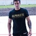 Nuevo 2016 algodón marca ropa de la aptitud para los hombres Animal print chándal camiseta camisa del músculo culturismo Tee XXL grande