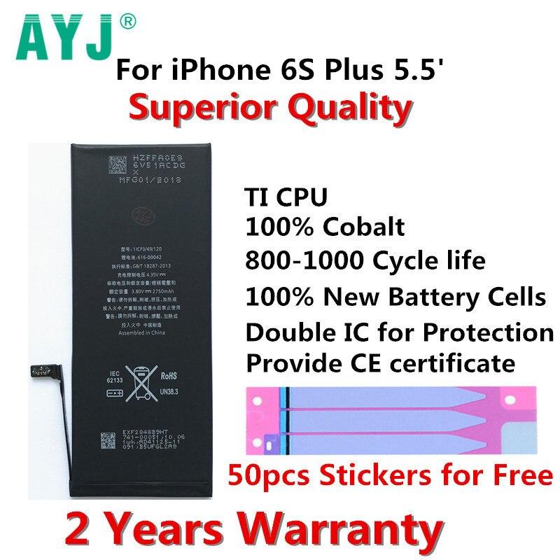 AYJ Mobile-Phone-Battery Batteries Replacement IPhone 6s-Plus 2750mah Original For Real-capacity/2750mah/Batteries/..