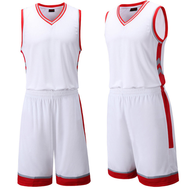 de6417c79bbb Blank Basketball Jersey Sets Men Competition Uniforms Suits Adults Sports  Clothes Sets Running Tracksuits Training Sportswear
