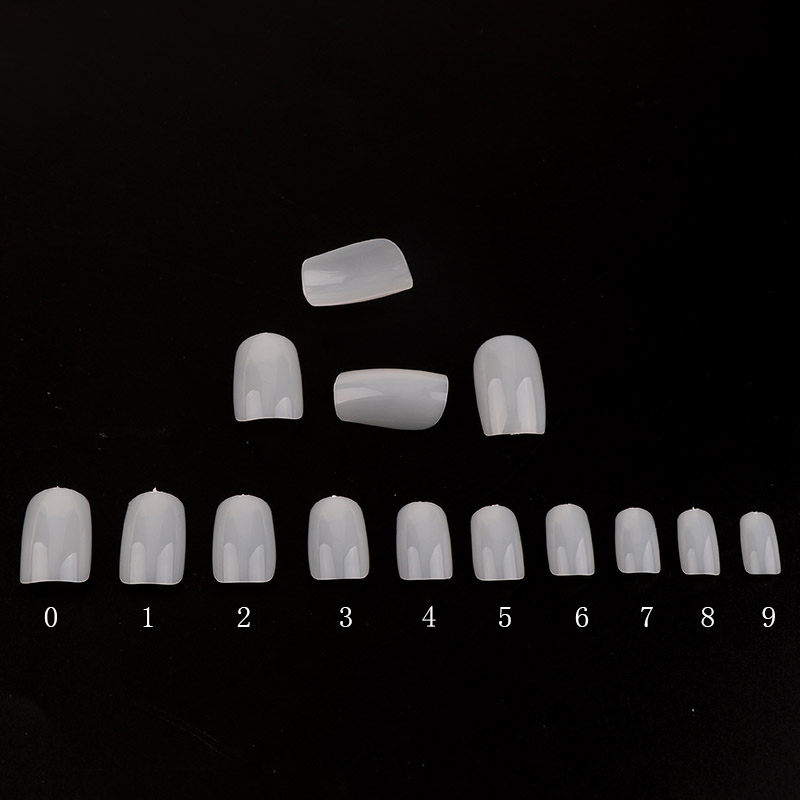 600Pcs/Set Hot High Quality Beauty Nail Tip Natural Color Full Cover False Nail No Break Good Toughness Nail Tips image