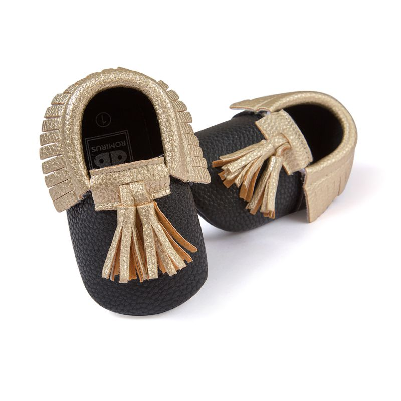 864de4567 متعدد الألوان طفل الفتيات والفتيان أحذية سرير الوليد الطفل شرابة لينة سوليد  أطفال prewalker حذاء 0-18 متر