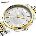 LONGBO Quartz Watch lovers Watches Women Men Couple Analog Watches Steel Wristwatches Fashion Casual Watches Gold 1/pcs 80283