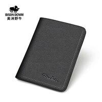 Buffalo Leather Wallet Purse Slim Short Male Korean Youth Card Wallet A Vertical Multi Leather Wallet