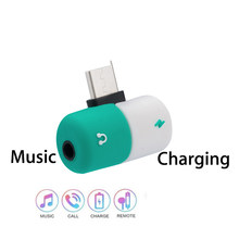 USB Type C to 3.5mm headphone earphone jack adapter Charging For leeco le 2 max2 pro 3 s3 Nubia z17 HTC U11 Aux Audio Converter(China)