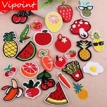 VIPOINT embroidery fruits vegetables patches egg badges applique for clothing YX-34