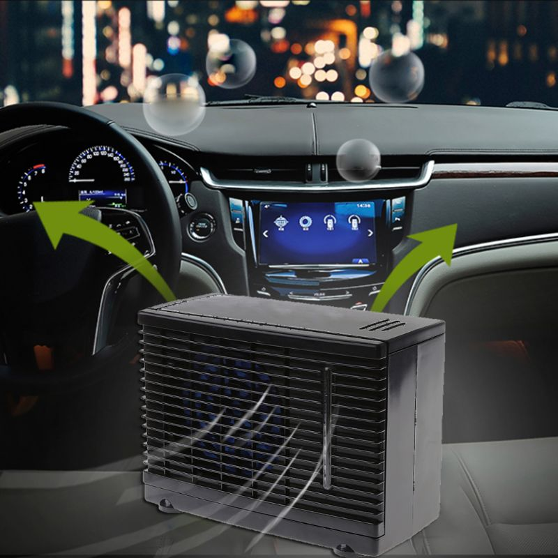 12V 60W Portable Mini Home Car Cooler Cooling Fan Water Ice ...