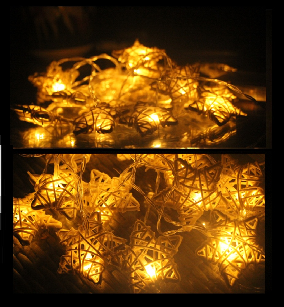 buy natural rattan star string lights fairy pa