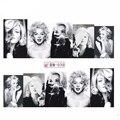 12 Hojas de Marilyn Monroe de La Cubierta Completa Pegatinas de Uñas Calcomanía Pegatinas de Uñas Calcomanías de Transferencia de Agua Del Arte Del Clavo Etiqueta Engomada Del Clavo Del Agua
