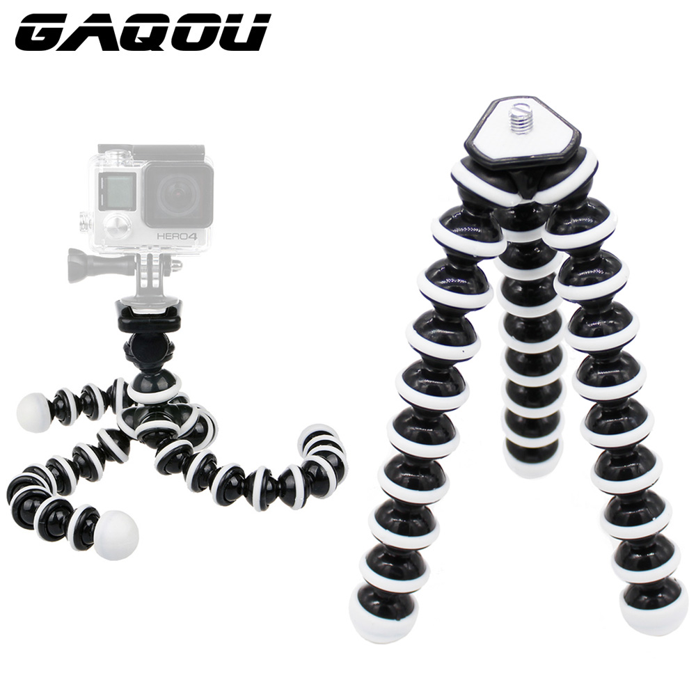 GAQOU M L Size Flexible Tripod Stand Mini Gorillapod Monopod Octopus Tripods for Gopro Digital Camera Canon Nikon Mobile Phone