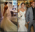 2015 Beaded Mermaid Sexy backless Bride Wedding Dresses Spaghetti Strap Gowns Vestido De Noiva Romantic Trumpet Wedding Dress