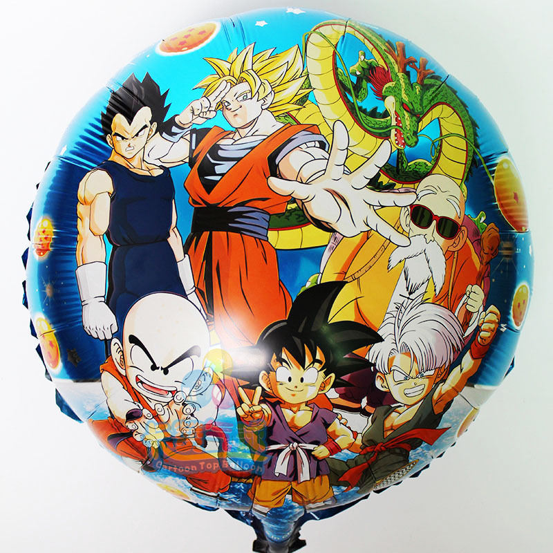 50pcs Lot Baby Birthday Decoration Dragon Ball Z Party Supplies Foil Balloons Son Goku Inflatable Ballon Kids Toys In From