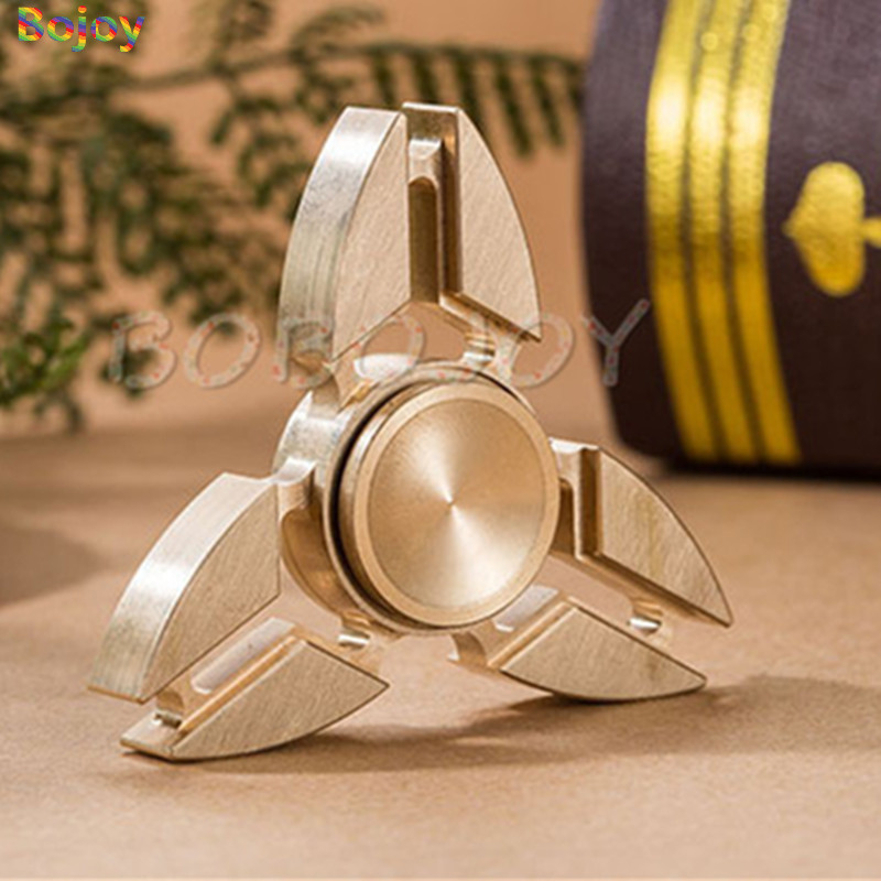 Fidget spinner hand metal Copper EDC Hand Spinner brass For Autism and ADHD Anxiety Stress Relief Focus Kids Gift gyro toy ...